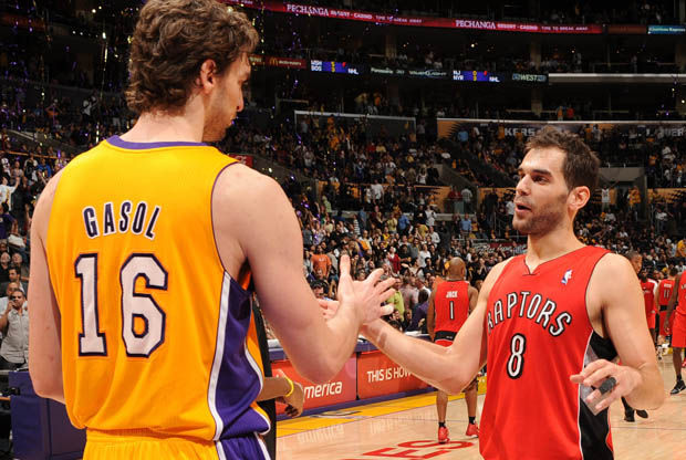 Pau Gasol y José Calderón./ Getty Images