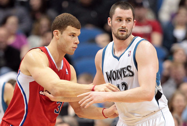 Blake Griffin y Kevin Love./ Getty Images