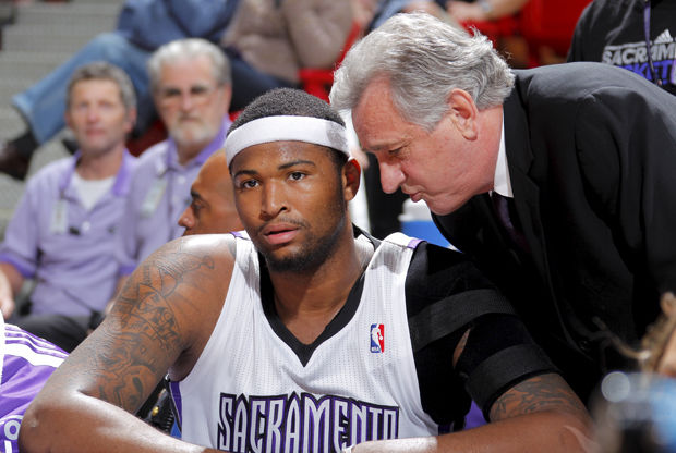 Paul Westphal y DeMarcus Cousins./ Getty Images
