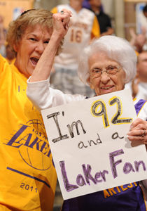 Fan de los Lakers./ Getty Images