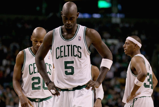 Kevin Garnett #5, Ray Allen #20 y Paul Pierce #34./ Getty Images