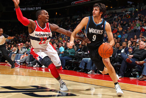Ricky Rubio y Shelvin Mack./ Getty Images