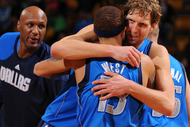 Delonte West y Brendan Haywood./ Getty Images