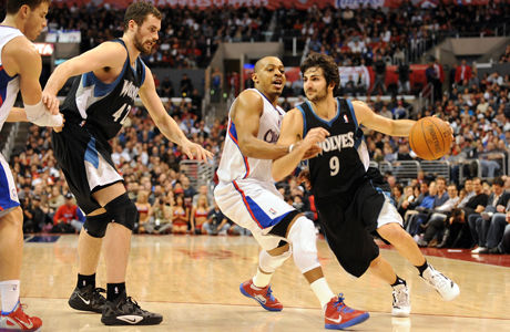 Ricky Rubio y Randy Foye./ Getty Images