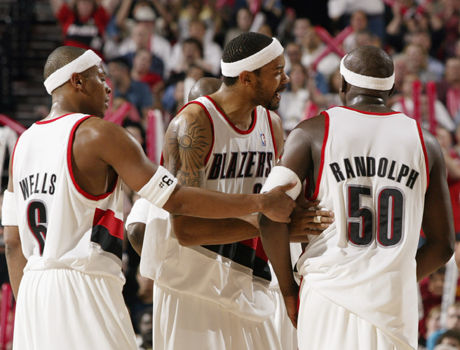 Bonzi Wells #6, Rasheed Wallace #30, Zach Randolph #50./ Getty Images