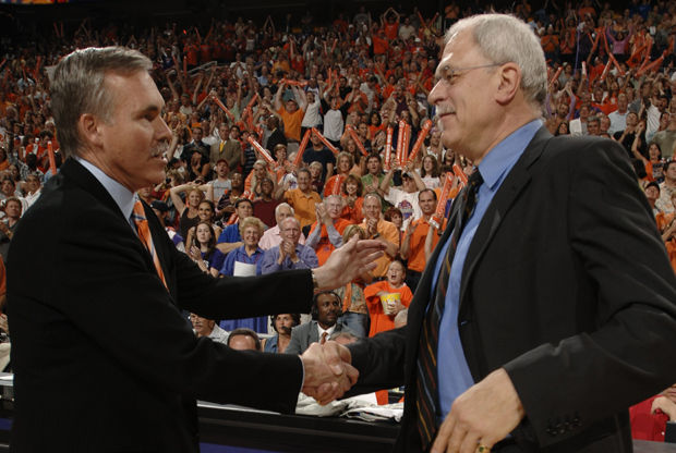 Phil Jackson y Mike D'Antoni./ Getty Images