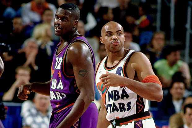 Charles Barkley y  Shaquille O'Neal - 1995./ Getty Images