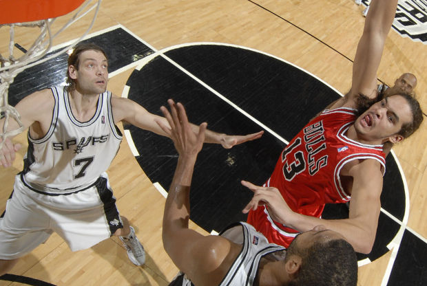 Fabricio Oberto y Joakim Noah./ Getty Images