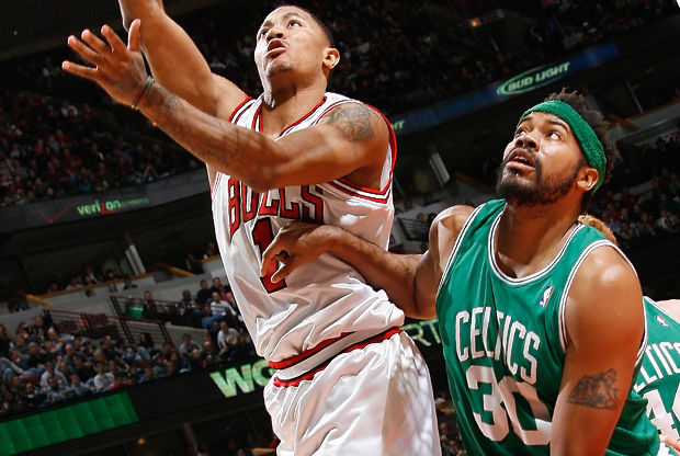 Derrick Rose y Rasheed Wallace./ Getty Images