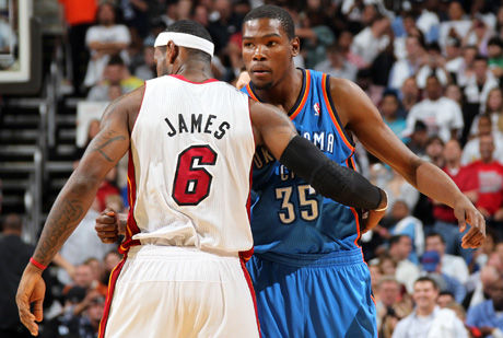 LeBron James y Kevin Durant./ Getty