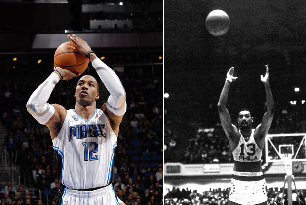 Dwight Howard y Wilt Chamberlain./ Getty Images