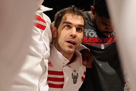 José Manuel Calderón, base de los Toronto Raptors./Getty