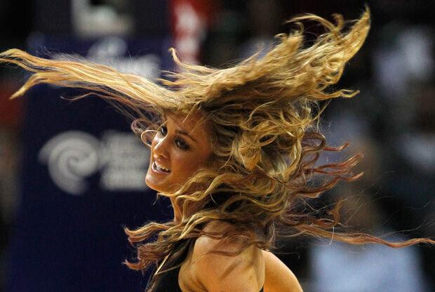 Brittany Kerr, cheerleader de los Bobcats./ Getty