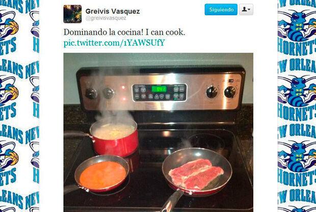 Mensaje y foto en twitter de Grevis Vásquez