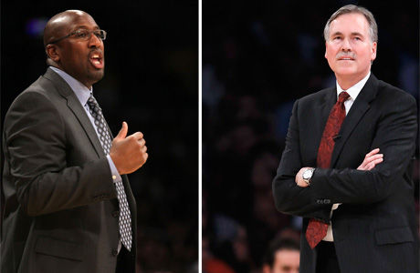 Mike Brown y Mike D'Antoni./ Getty
