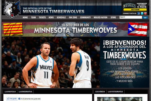 Web oficial de los Timberwolves