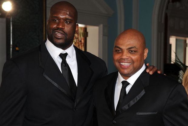Shaquille O'Neal y Charles Barkley./ Getty Images