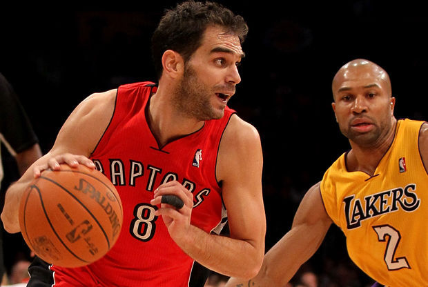 José Calderón y Derek Fisher. / Getty Images