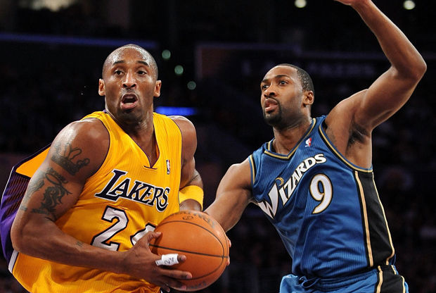 Kobe Bryant y Gilbert Arenas./ Getty Images