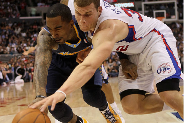 Blake Griffin y J.R. Smith./ Getty Images