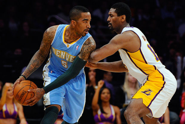 JR Smith y Ron Artest./ Getty Images