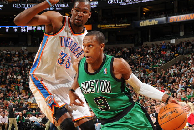 Rajon Rondo y Kevin Durant./ Getty Images