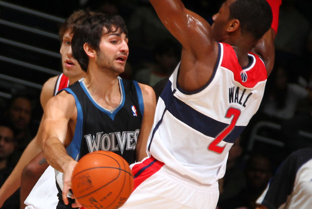 Ricky Rubio y John Wall./ Getty Images