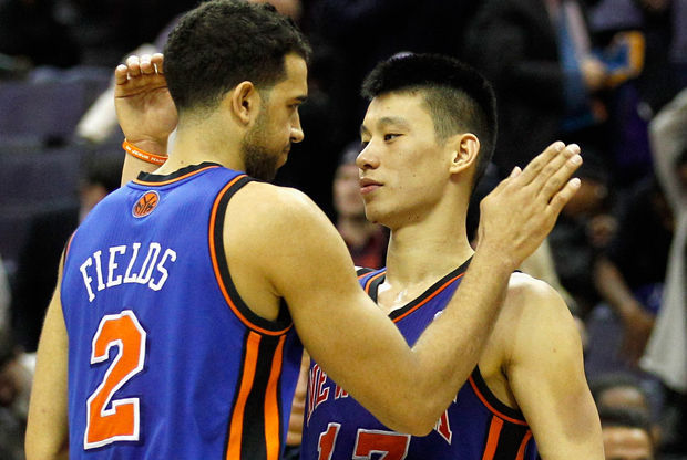 Landry Fields y Jeremy Lin./ Getty Images