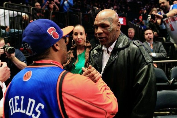 Spike Lee y Mike Tyson./ Getty