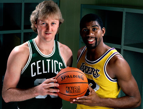 Larry Bird Magic Johnson./ Getty Images