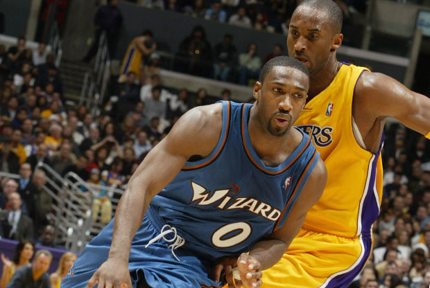 Gilbert Arenas y Kobe Bryant./ Getty Images