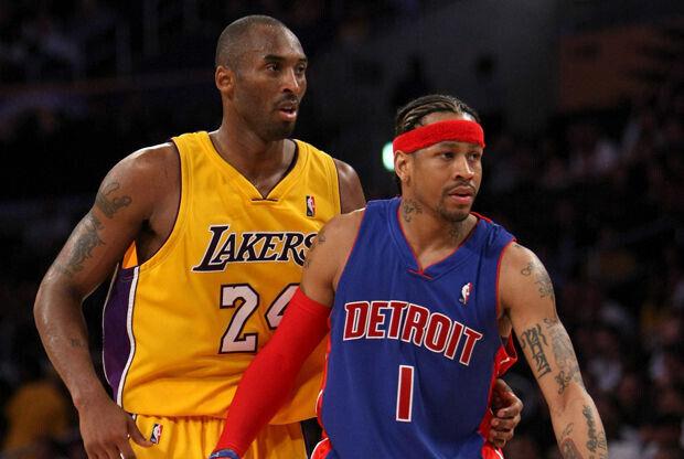 Kobe Bryant y Allen Iverson./ Getty Images
