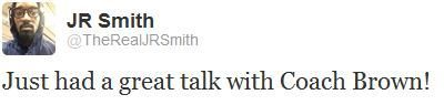 Twitter de JR Smith