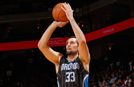 Ryan Anderson, jugador de los Magic y participante en el concurso de triples 2012./ Getty