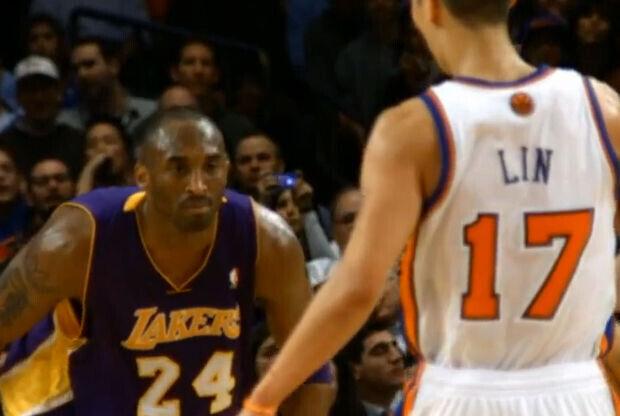 Jeremy Lin y Kobe Bryant