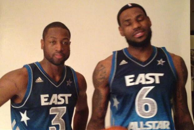 LeBron James y Dwyane Wade