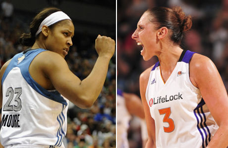 Maya Moore y Diana Taurasi./ Getty Images