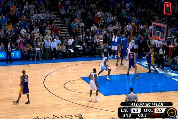Canasta sobre la bocina de Kevin Durant