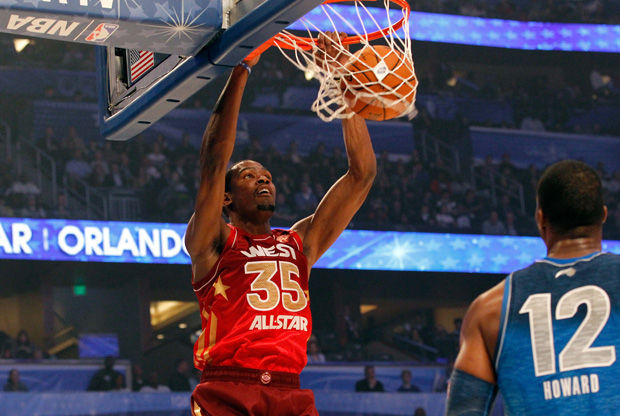 Kevin Durant, estrella del Oeste en el 61º All-Star Game./ Getty