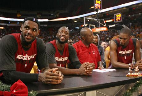 LeBron James, Dwyane Wade y Chris Bosh./ Getty