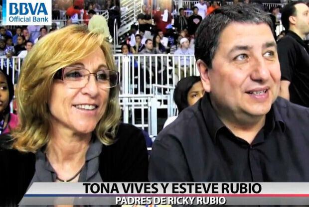 Tona y Esteve, los padres de Ricky Rubio