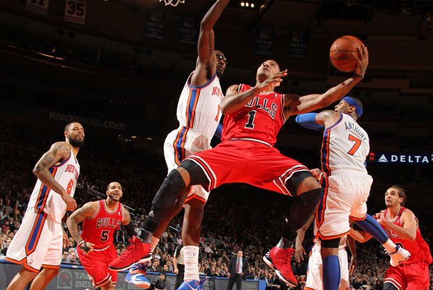 Derrick Rose, en el Madison./ Getty