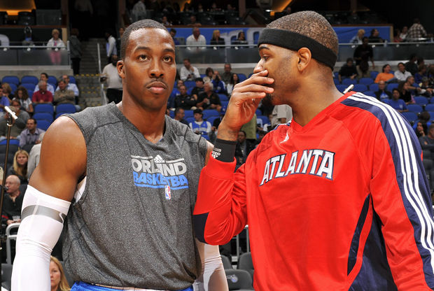 Josh Smith y Dwight Howard./ Getty Images
