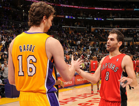 José Calderón y Pau Gasol./ Getty Images