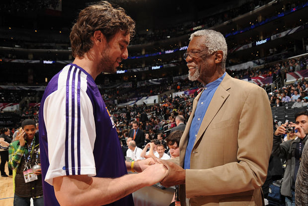 Pau Gasol supera a Bill Russell./ Getty Images