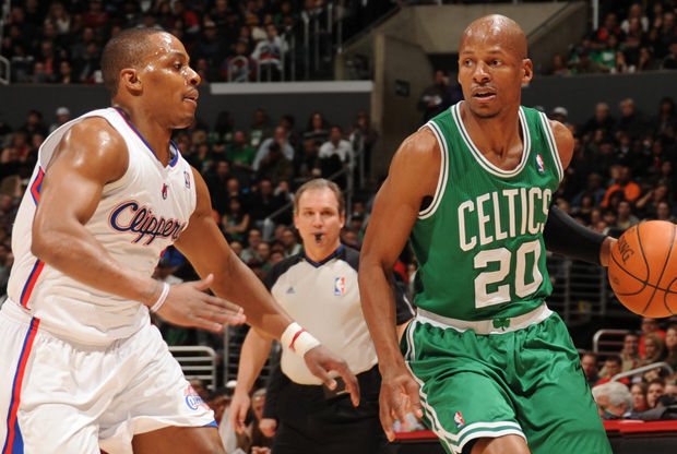 Ray Allen y Randy Foye./ Getty Images