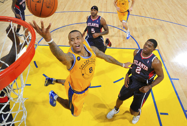 Monta Ellis, Joe Johnson y Josh Smith./ Getty Images
