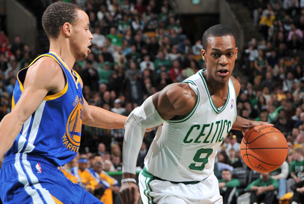 Rajon Rondo y Stephen Curry./ Getty Images