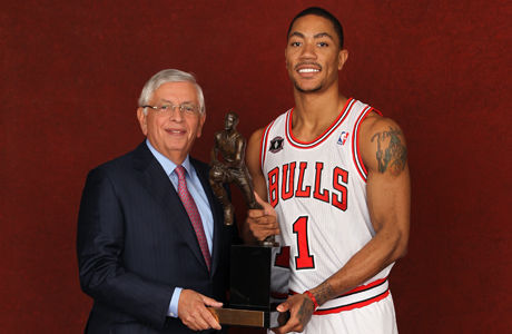 David Stern y Derrick Rose./ Getty Images
