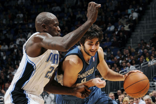 Ricky Rubio y Jason Richardson./ Getty Images